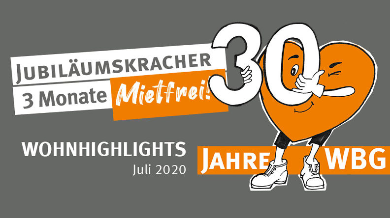Wohnhighlights Juli 2020: 3 Monate Mietfrei